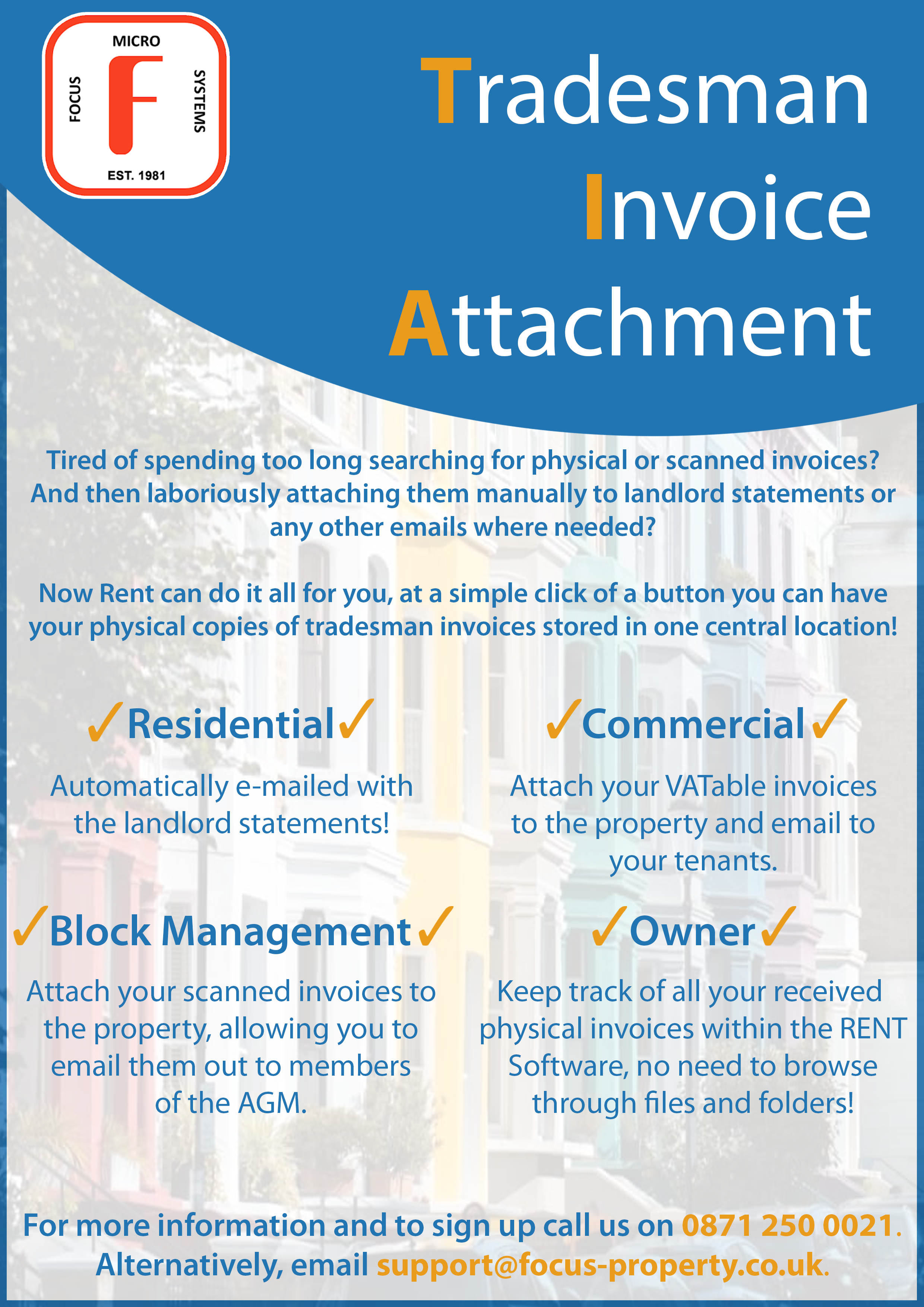 Tradesman Invoice Attachment Feature